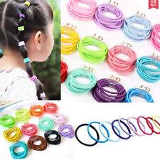 100Pcs Mixed Baby Kids Girl Elastic Tiny Hair Tie Band Rope Ring Ponytail Holder