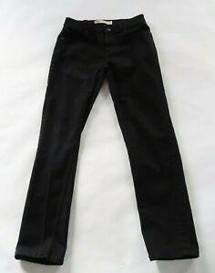 Levis Boys Stretch Denim Black Wash 502 Regular Taper Jeans Youth 16 Regular