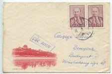 KOREA 1960 Airmail cover to Budapest 2x Lenin 10 pmk PHYONGYANG