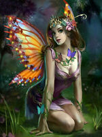 Full drill Diamond Painting Cartoon Butterfly Girl Elf Fashion Handicraft 6972X