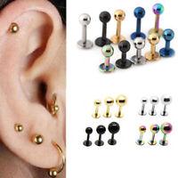 2Pcs Unisex Titanium Steel Mini Stud Earring Tragus Cartilage Earrings Sightly