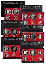 6 Piece Set 1973 1978 S US Proof Set Black Box Collection SKU57147