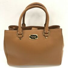 Michael Kors Leather Tote Bag Tan Brown Double Handle Daily Use Medium 291053