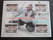 Slowakei Slovensko Ersttagsstempel 2003 KL Kleinbogen Eishockey