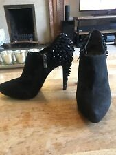 Sam Edelman Renzo Suede Studded Shoe Boot Black UK 7