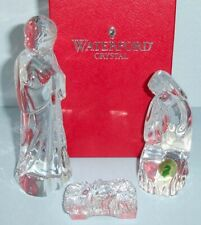 Waterford Nativity Set Holy Family 3 PC Figurine Mary Joseph Jesus Ireland New