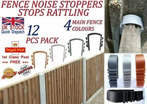 LTG 12 Pcs Fence Panels Noise Stoppers Garden Fence Wind Anti Rattling Clips