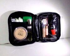 Black Vinyl Makeup Bag Kit Travel Pouch Cosmetic Bag Toiletry Organizer