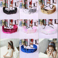 Shiny  U Pic Sequin Beautiful HeadBand Bow Glitter Elastic hairband
