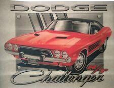 Rare Vintage Dodge Challenger T-shirt Transfer Nos