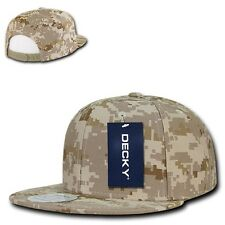Desert Digital Camouflage Flat Bill Snapback Camo Baseball Cap Caps Hat Hats