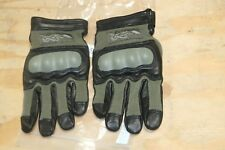 WILEY-X CAG-1 GREEN COMBAT ASSAULT GLOVES WITH KEVLAR KNUCKLES SIZE SMALL-NEW