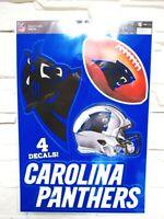 Carolina Panthers 4 Aufkleber Decal Badges Set NFL Football Neu