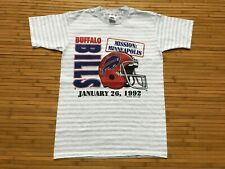 Medium - Vtg 1992 Nfl Buffalo Bills Single Stitch 90s Cotton T-Shirt Usa