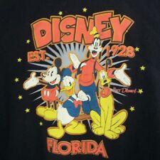 Disney Florida Hoodie Large Goofy Black Orange 1928 Alstyle Apparel Mens