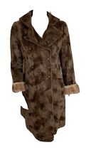 Vintage Casual Corner Brown Mink Fur Womens Coat Size Small