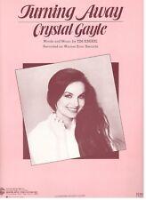 "CRYSTAL GAYLE ""TURNING AWAY"" SHEET MUSIC-PIANO/VOCAL/GUITAR/CHORDS-1984-RARE-NEW"