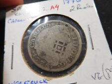 A4 Spain 1776 2 Reales Overstruck KM-412.2