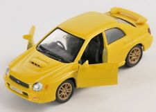 BLITZ VERSAND Subaru Impreza WRX STi gelb yellow Welly Modell Auto 1:34 NEU OVP