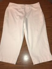 Coldwater Creek Natural Fit White Capris Size 16