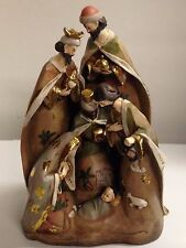 "17"" Nativity Scene Resin Statue Holy Family Christmas Decor"