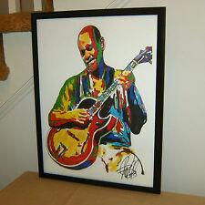 Joe Pass, Virtuoso Jazz Guitarist, Bebop, Guitar, Composer, 18x24 POSTER w/COA