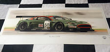 Aston martin DBR9 sebring 12 heures GT1 2005 new painting print art chris dugan