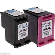 REFILLED INK CARTRIDGES BLACK & COLOUR COMPATIBLE WITH HP 301XL NEW GENERATION
