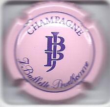 Capsule de champagne Baillette Prudhomme rose écriture violette
