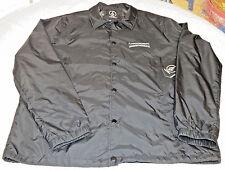 Volcom wind breaker jacket Men's snap up Water Resistant XXL 2XL Black Out 31602