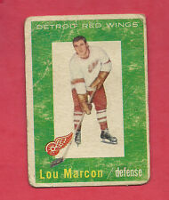 1959-60 TOPPS # 49 RED WINGS LOU MARCON ROOKIE   CARD