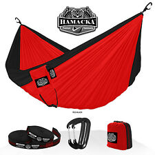TRAVEL HAMMOCK SET (RED-BLACK) HAMACKA