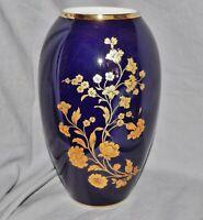 Vase Royal KPM, Kobalt Gold, 23 cm