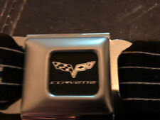 Chevy Corvette Logo Official Licensed Seatbelt Authentic Seat Belt Buckle Down