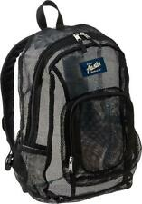 NEW LARGE Austin Trading Co. Classic Mesh Backpack Black Book Bag See Through ga