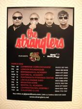 THE STRANGLERS 'GIANTS TOUR' 2012 - A6 (postcard sized) FLYER 2012