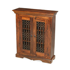 Jali Sheesham Ironwork Cabinet Living Room Solid Wood Indian Furniture