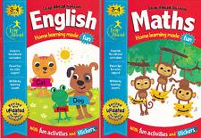 ENGLISH & MATHS AGE 3-4 EARLY YEARS ACTIVITY LEARNING HOMEWORK SCHOOL WORKBOOKS
