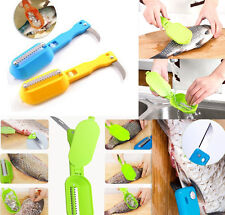 Hot Fish Scales Skin Remover Scaler Knife Fast Cleaner Home Kitchen Clean T