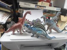 Set of 6 Dinosaur Figures with2 rocks Very Nice Set - Made In China