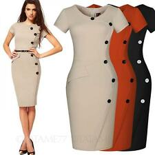 Womens Vintage Dress office Ladies Victorian Celebrity Bodycon fashion Size tata