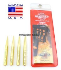 Grace Brass Gunsmith Punch Set 4pc Tapered Pin Punch Gun Care Made in USA