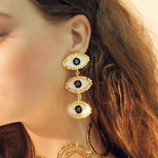 Statement Earrings Women's Gold Party Traveling 2019 New Lady's Evil Eye Chain