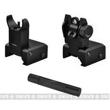 Low-Profile Flip-Up Front + Rear Sights + Tool For TIPPMANN Project Salvo Cronus
