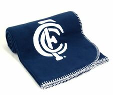 AFL Carlton Blues Polar Fleece Throw w/ Embroidered Logo Official AFL Product