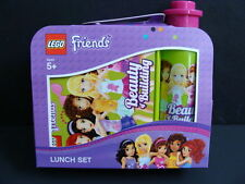 NEW LEGO Friends Lunch Set Sandwich Box Drink Bottle 2pc Container Kit Green NIP