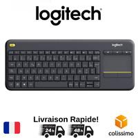 Logitech K400 Plus Clavier Sans Fil Noir AZERTY avec Pavé Tactile Universel FR