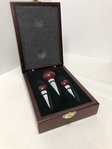 Wine Bottle Stoppers - Metal and wood