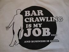 Bar Crawl Nation One Bar Isn't Good Enough! Tampa Florida 2015 T Shirt Size S