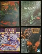 White Wolf RPG 4 Screen Lot - Vampire / Mage Ascension / Demon / Changeling